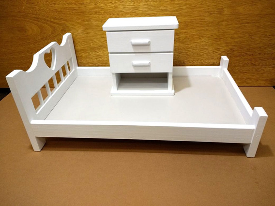 Caminha Mini Cama Branca Fotografia Newborn Com Criado Mudo