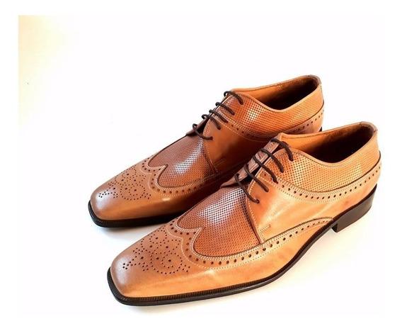 Huma10 Zapatos Hombre Talles Grandes Cuero Picado