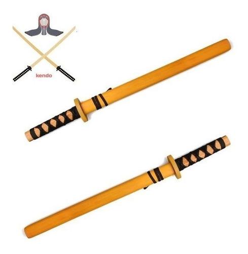 Katana Espada Japonesa De Madera Decoracion O Practica 60 Cm