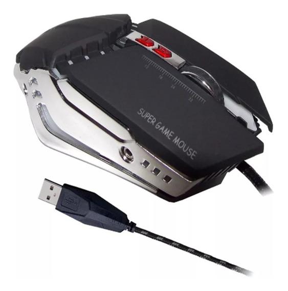 Mouse Gamer Alta Precisão C/ Peso Interno 1200-3200dpi