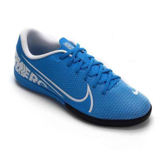 Tênis Futsal Nike Vapor 13 Academy Ic Azul Juvenil