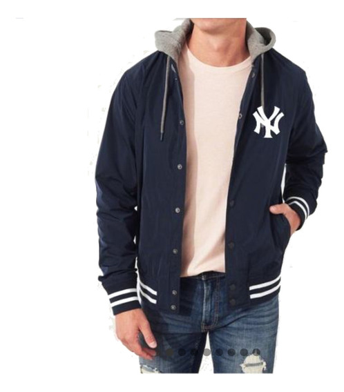 Chaquetas Universitarias New York Yankees Mlb Con Capucha