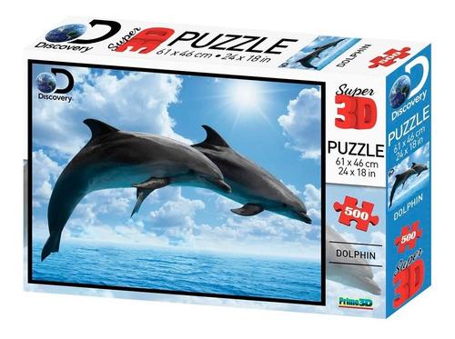 Quebra Cabeça 3d Golfinhos 500 Peças Multilaser Br1063 Loi