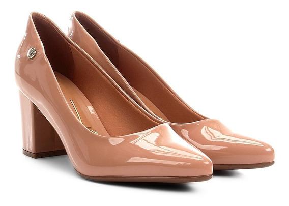 Sapato Feminino Vizzano Salto Médio 1290 400 Verniz