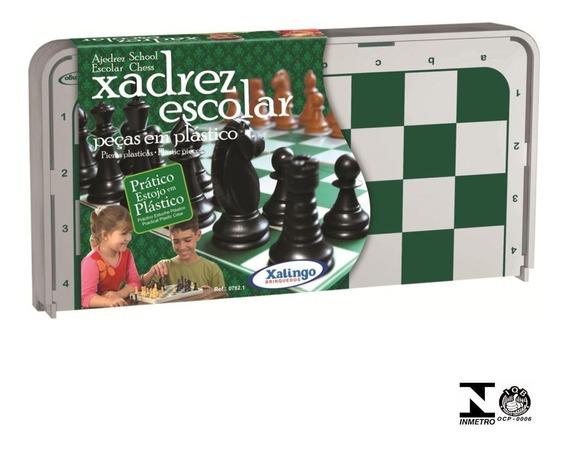 Jogo De Xadrez Escolar Plástico 7821 Xalingo