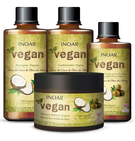 Kit Inoar Vegan Tratamento (4 Produtos)