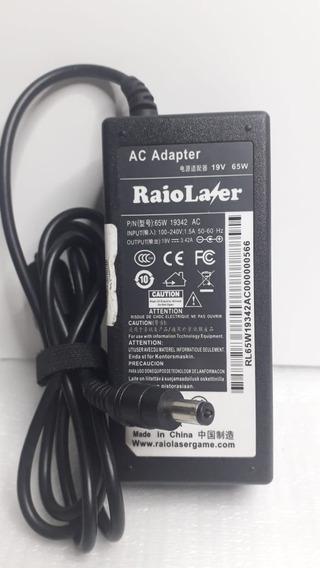 Fonte Dell Inspiron 1428 Raio Laser 19v 3,42 Plug 5,5x2.1mm