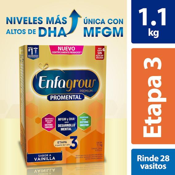 Leche De Crecimiento Enfagrow Etapa 3 Vainilla, Caja 1.1kg