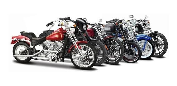 Motos A Escala 1:18 Maisto Harley Davidson De Coleccion