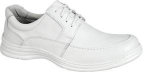 Sapato Masculino Ortopedico Branco Enfermeiro Medico 2712/05