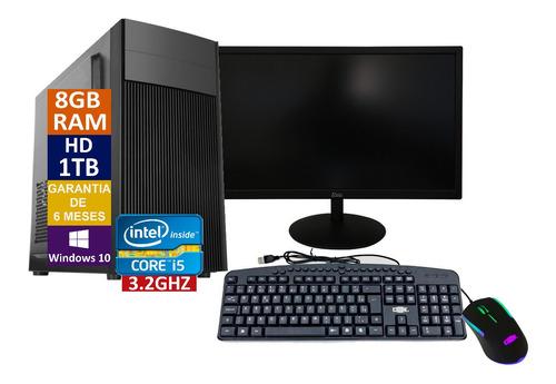 Pc Completo Computador Cpu I5 + Hd 1tb, 8gb Ram + Monitor