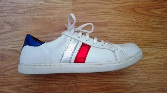 Zapatillas Mujer Cuero Blancas Ay Not Dead