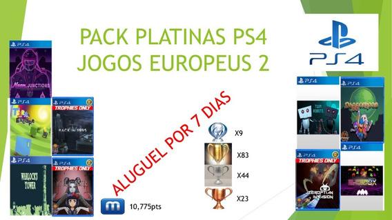 Pack Platinas Faceis Ps4 Europa 9 Jogos 1 Semana