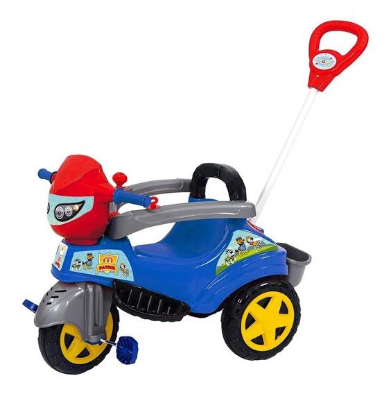 Triciclo Infantil C/ Pedal E Haste Baby City Patrol Maral