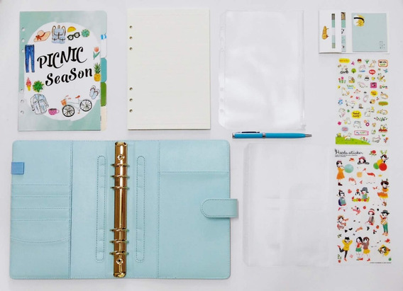 Um Kit Planner/agenda/caderno Fichario--5 Cores