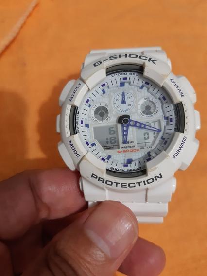 Casio G-shock Branco Ga-100a Usado