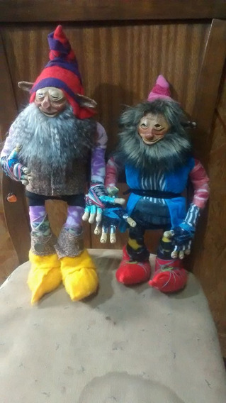 2 Muñecos Duendes Ñomos Articulados