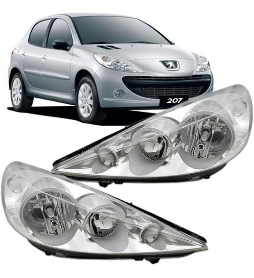 Farol Peugeot 207 2007 2008 2009 2010 2011 2012 Cromado Ld