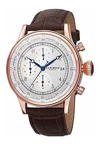 Akribos Xxiv Ak798 - Reloj Cronógrafo Para Hombre, 3 Subesfe