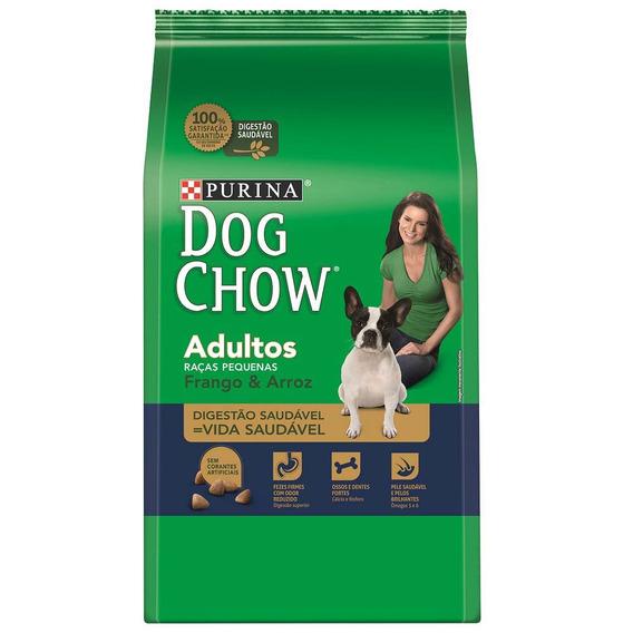 Ração Dog Chow Para Cães Adultos De Raças Pequenas Sabor Fra