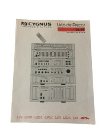 Raro Folheto Folder Da Linha De Preço Cygnus - Digital!!