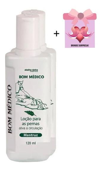 Kit C/2 Bom Médico Mentruz P/ Pernas Abelha Rainha + Brinde