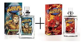Kit 02 Miniaturas Liga Da Justiça Aquaman+the Flash Jequiti