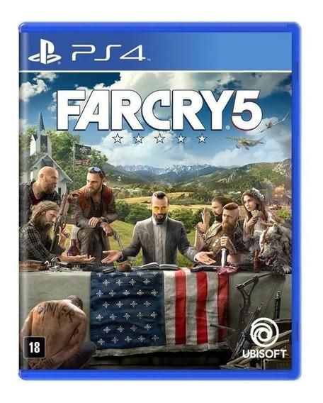 Far Cry 5 Ps4 Midia Fisica Novo Lacrado Pt Br Pronta Entrega