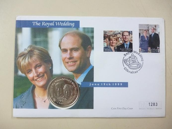 Gibraltar Moneda Boda Real Principe Edward Y Sophie 1999