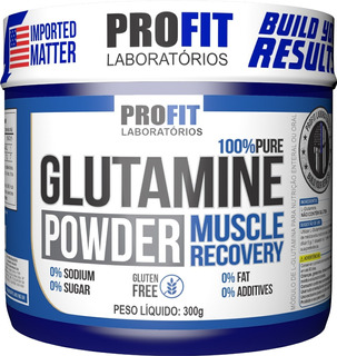 Glutamina 100% Pura Powder 300g - Profit Labs