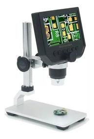 Microscopio Portátil 1-600x C/ Tela Lcd E Regulagem De Altur