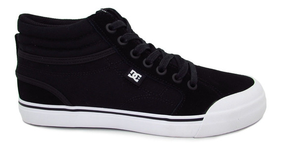 Tenis Dc Shoes Evan Hi Youth Adbs300255 Bkw Black Piel Gamuz