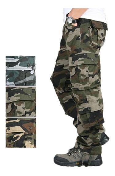 Pantalón Táctico Militar, Tipo Cargo Camuflaje