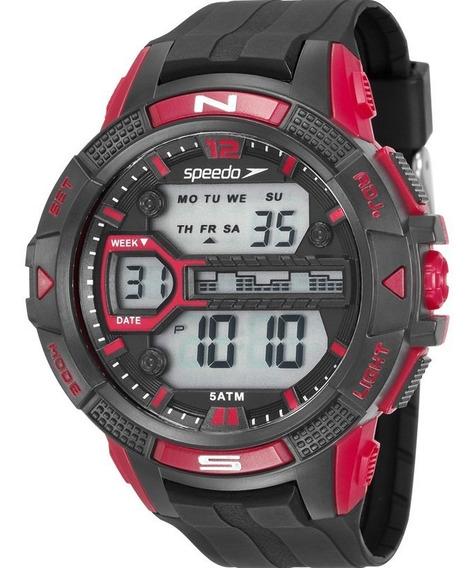 Relógio Speedo Masculino Digital 81111g0evnp4 Preto Original
