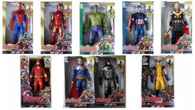 Bonecos Vingadores Super Heroes Dc 30cm Com Som,luz ( Cada )