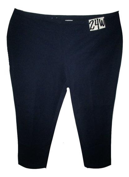 Pantalon Azul Marino Casual/vestir Talla 24w (44mex) Crown &