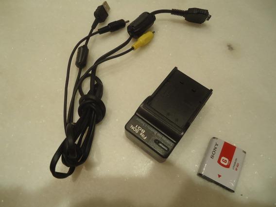 Bateria Sony Np-bg1 Original + Carregador + Cabo Rca Usb Av