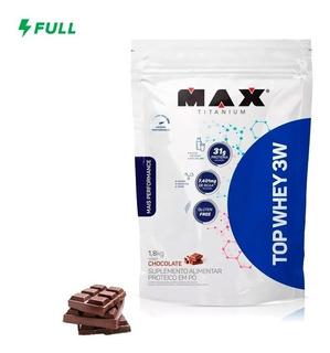 Whey Protein Isolado Concentr Max Titanium Top Whey 3w 1,8kg