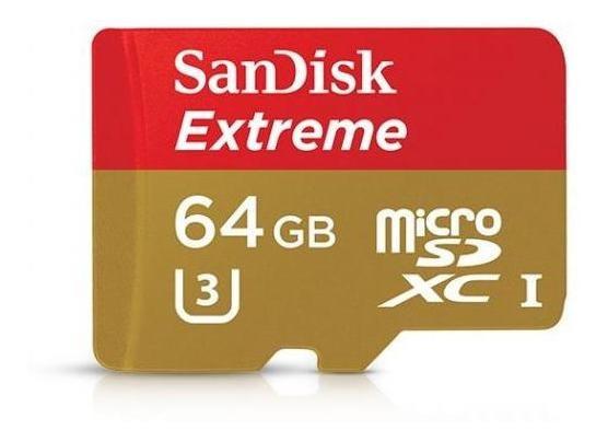 Cartão De Memória Sandisk Microsdxc Extreme 64gb