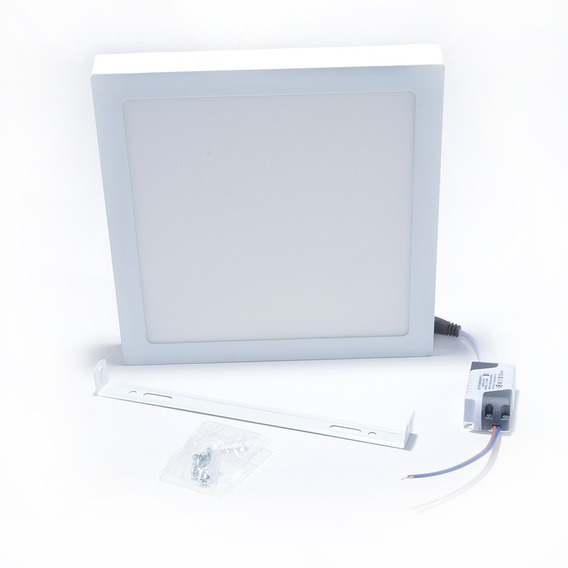 Kit 5 Luminária 18w Quadrado Led Sobrepor Branco Frio