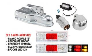 Set Instalacion Carro Arrastre Acople +focos+enchufes