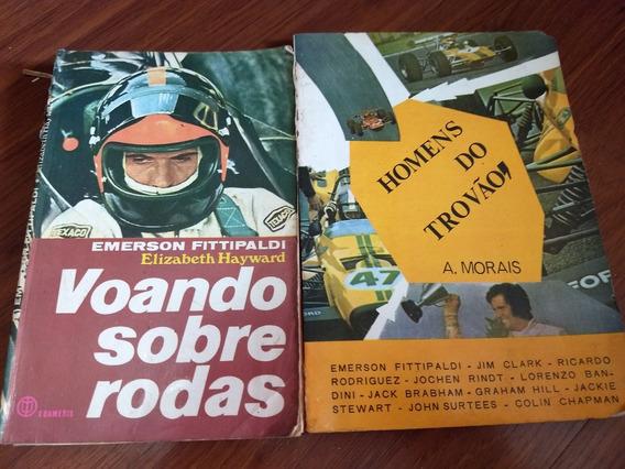2 Livros Raros Antigos De Automobilismo Fittipaldi Etc Lote