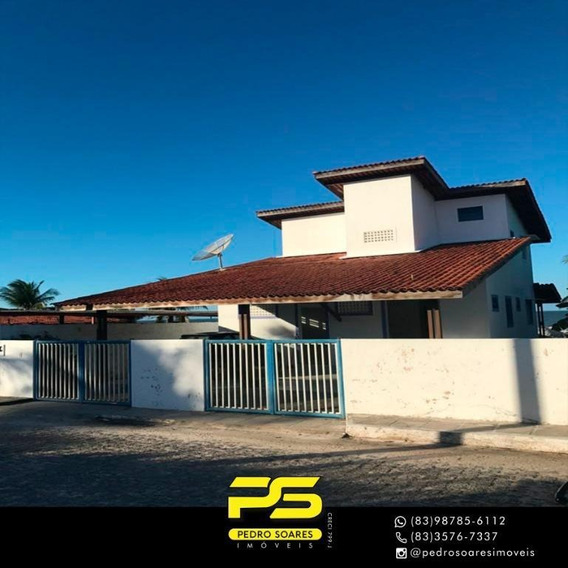Casa Com 3 Dormitórios À Venda Por R$ 320.000 - Praia Azul - Pitimbú/pb - Ca0576