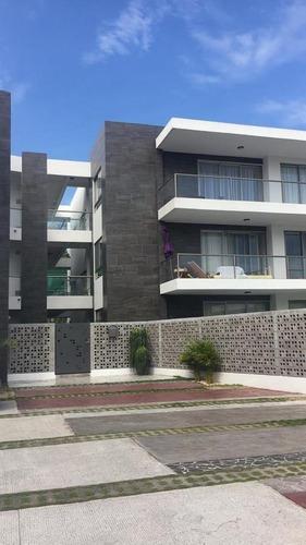 Edificio Living 21, Departamento En Renta Amueblado, Con Alberca, En Rincon Del Conchal, En La Riviera Veracruzana