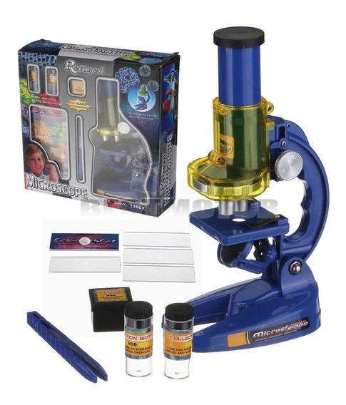 Microscópio Laboratório Brinquedo Ciência Educacional Para K
