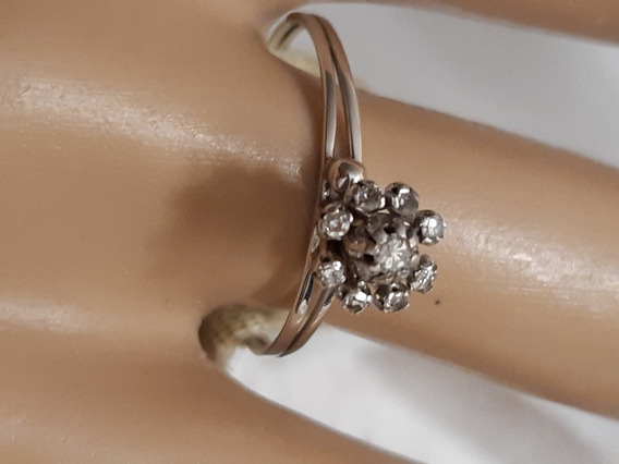 Chuveiro Com 9 Diamantes Em Ouro Branco 18k