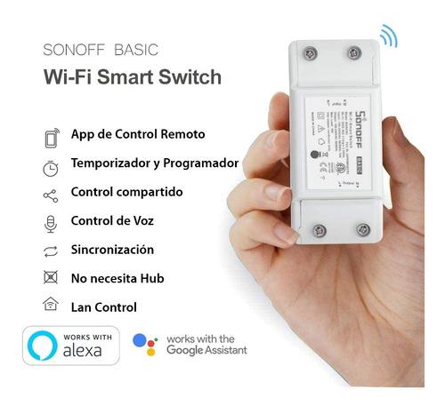 Sonoff! Modulo Inteligente Y Controlador De Luces Y Tomas