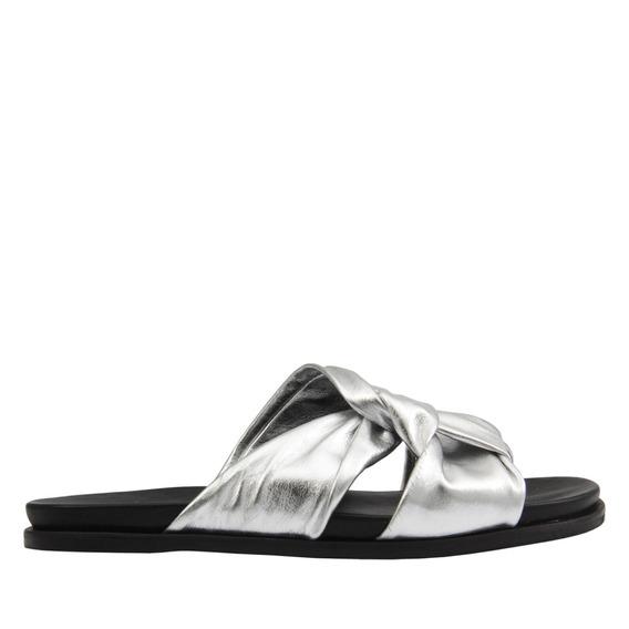Sandália Rasteira Chinelo Slide Nó Metalizado Carrano 144701