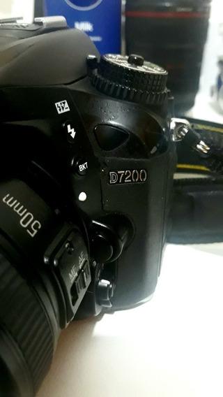 Câmera Nikon D7200 + Lente 50mm