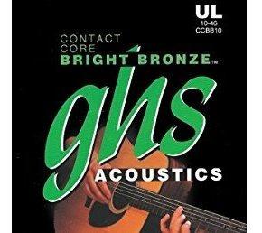 Cuerdas De Guitarra Acustica De Bronce Brillante Contact Co